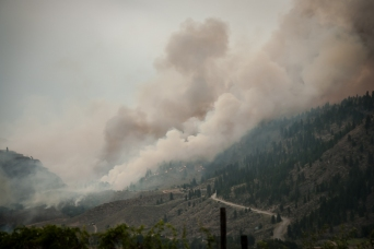 Lightning-caused fire near Riverside, above Omak