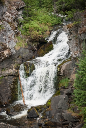 Crystal Falls, the smallest state park, located east of Colville