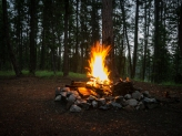 And a campfire every night