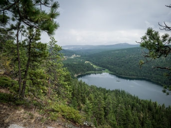 It went to a tremendous viewpoint above Bonaparte Lake and Creek