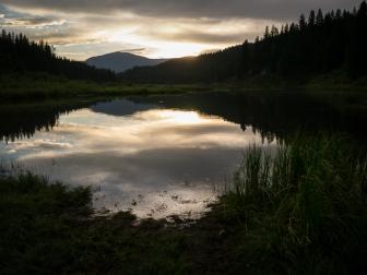 Millpond at sunset