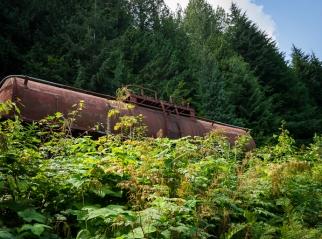 An old train car