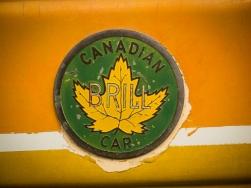 Canadian Brill Car logo on the trolleys