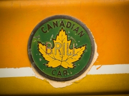 Canadian Brill Car logo on the trolleys