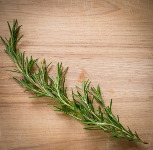 And a sprig of rosemary
