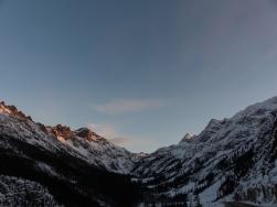 Looking towards the big switchback below Washington Pass