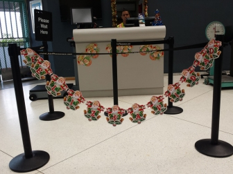 Feliz Navidad at the airport
