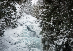 The frozen falls