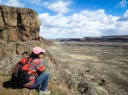 MA looks over another large coulee full of little coulees