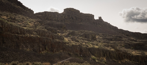 The rugged landscape of the lower Grand Coulee