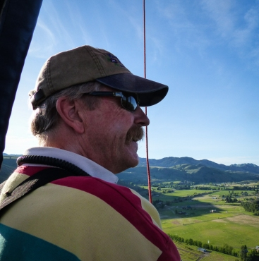 Kurt Oakley, pilot and co-owner of Morning Glory Balloon Tours.