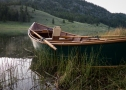A handmade boat on Chopaka Lake
