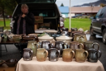 Almquist Pottery used to have a shop in Winthrop but they downsized last year and now sell at the market