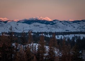 Sunrise on Isabella Ridge.