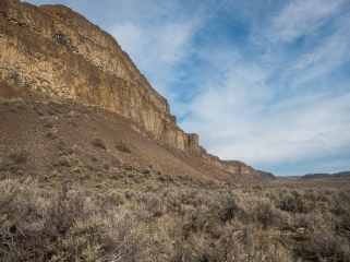 Moses Coulee, a result of the Ice Age Floods