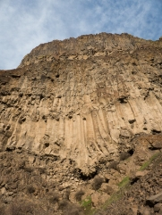 It's hard to imagine these columnar basalts were once lava flowing out of the ground.