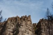 The canyon walls