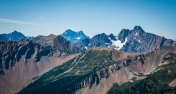 You can see a tiny view of Glacier Peak here. It's another of our volcanic mountains.
