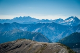Layers of mountains in the North Cascades