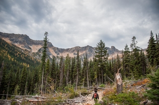 Starting up the trail, not yet to Cutthroat Lake