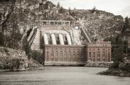 A hydro power plant on the Spokane River