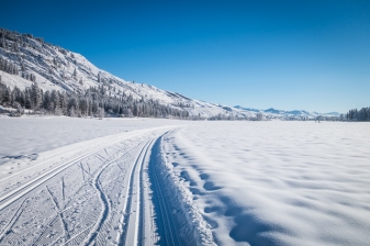 Brand new tracks for classic skiers and corduroy for skate skiers.