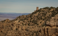 Our first glimpse of the Desert View Watchtower also designed by Mary Jane Colter
