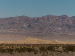 Mesquite Flat Sand Dunes. It was blowing too hard for us to consider getting out there.