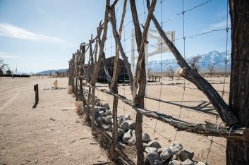 A fence around a basketball court