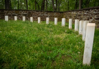 National Cemetery at the Ball's Bluff battlefield
