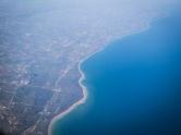 The shore of Lake Michigan