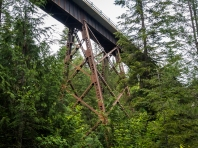 The road went over this trestle