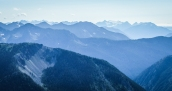 Layers of mountains of the North Cascades