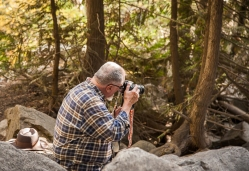Jim was intent on getting good images of the creek