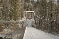 Suspension bridge on the Methow Trails ski trail