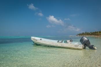 The Belize Audubon boat.