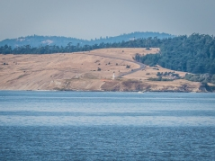 Cattle Point Lighthouse on San Juan Island viewed from Shark Reef Park