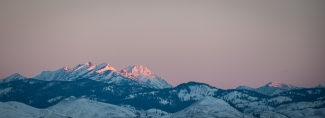 Morning alpenglow