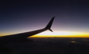 A stunning sunset for much of the flight.