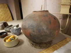 A replica of an old pot.