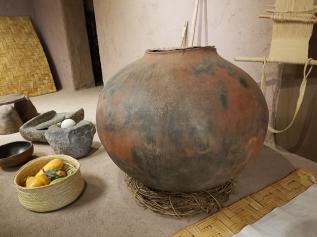 A replica of an old pot.