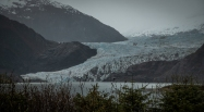The glacier has retreated a long way in recent years
