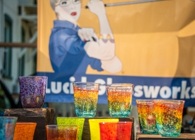 Glassware from Sam Carlin's Lucid Glassworks