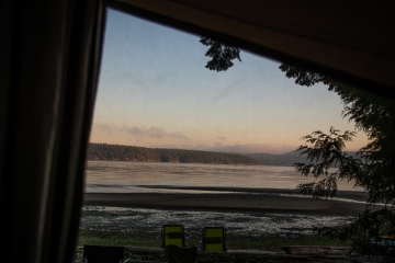 The view from bed in the camper.