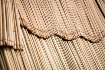 Tule mat detail from the tule mat house