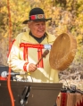 Arnold Cleveland sang and played drum