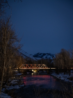 Highway bridge across the Methow River