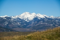 Snow-capped Mt Gardner above the Methow Valley