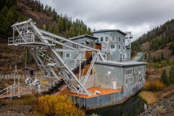 This mining dredge was brought up the Yankee Fork of the Salmon River. How it was moved, I don't know.